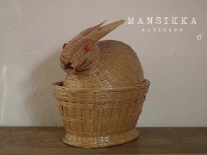 ウサギ型バスケット