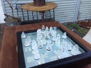 チェスを楽しむ昼休み