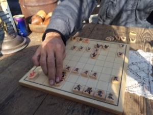 将棋を楽しむ昼休み