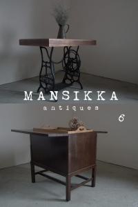 ミシン脚テーブルとキャンピングテーブル