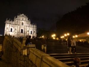 聖ポール天主堂跡の夜景
