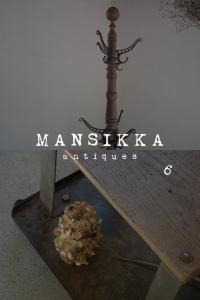 木とアイアンのアメリカ製アンティーク家具