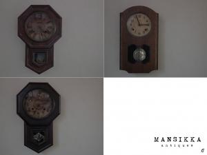 古いボンボン時計3点