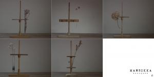木製の試験管立て5点