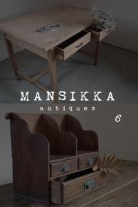 日本のレトロな木製古家具2点