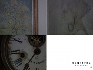 絵画と掛け時計