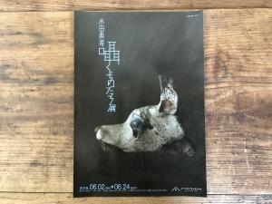 水田典寿個展のフライヤー