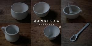 古い白色の陶器