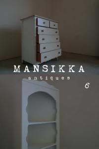 アメリカ製の白いアンティーク家具2点