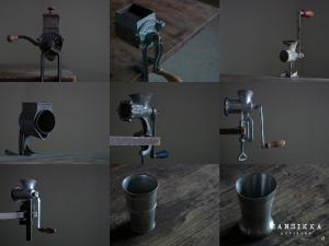 アンティークミンサーと小さなカップ