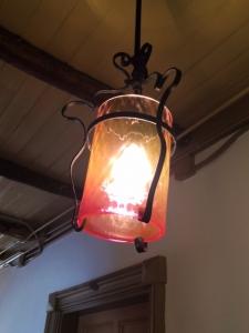 旧三笠ホテル 廊下の照明