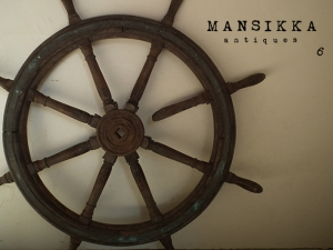 アンティーク 船の舵輪