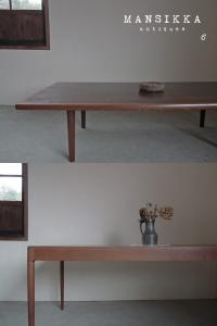 北欧のダイニングテーブルとコーヒーテーブル