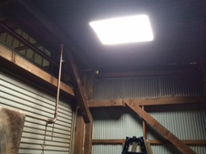 内装工事で天井から自然光を採り入れる