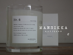 MANSIKKAオリジナルアロマキャンドル「No.6」