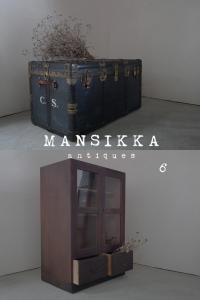 船トランクと木製収納箱