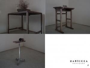 古いテーブル・机3点