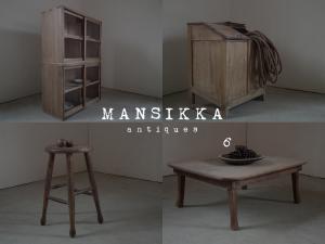古い木味の木製家具4点