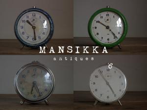 チェコスロバキア製の古い目覚まし時計
