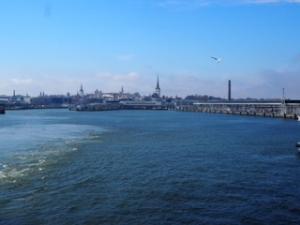 バルト海から見るタリン旧市街