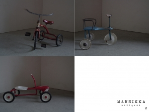 外国製の三輪車3点