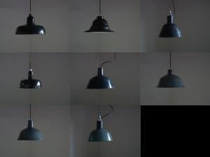 ハンガリーのインダストリアルホーロー照明