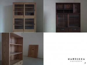 日本の古い時代家具3点
