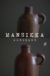 ドイツのアンティーク陶製ボトル