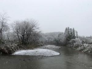 3月末の雪景色
