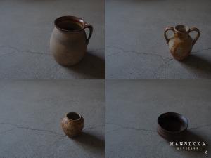 古い壺と陶器