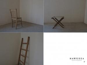 古い椅子とはしご