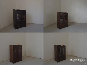 日本の両開き扉収納箱4点
