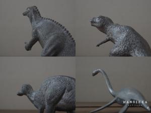 国立科学博物館の恐竜フィギュア4点