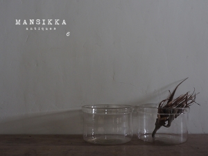 円柱型ガラス鉢