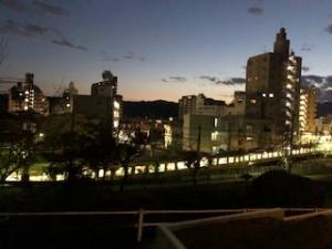 青梅線の夜景